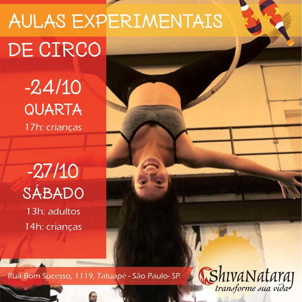 AULAS experimentais circo